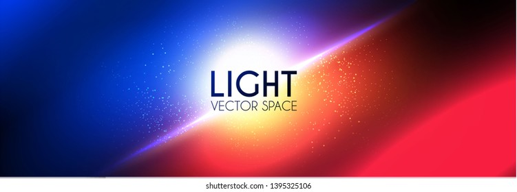 Abstract Blur Background. Contrast Color Light Effect. Blue and Red Flash. VS.