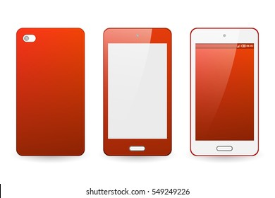 Abstract blur bright red background for mobile phone cover and screen