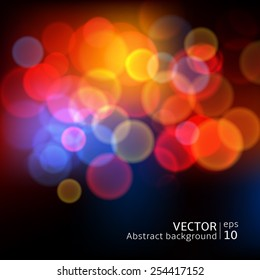 Abstract blur circular bokeh background