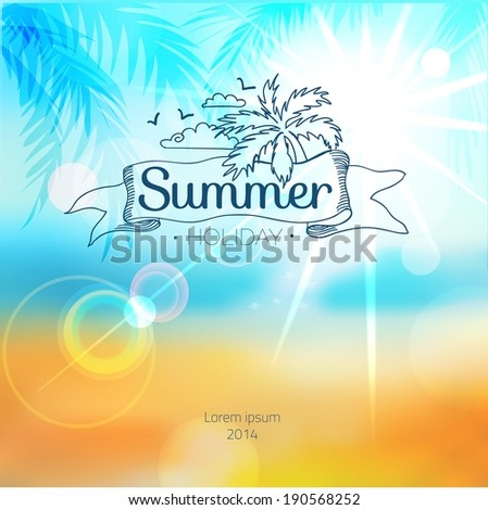 Abstract Blur Sea Shore Shot Manual Stock Vector (Royalty