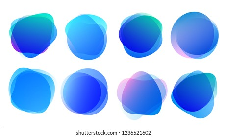 Abstract blur shapes blue color gradient iridescent colors effect soft transition watercolor white background, texture for background presentation theme children products, vector illustration eps10