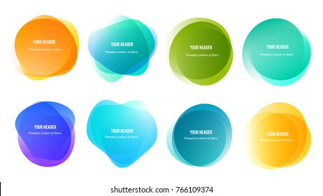 Abstract blur shapes color gradient iridescent colors effect soft transition, texture for background presentation theme children products, vector illustration eps10