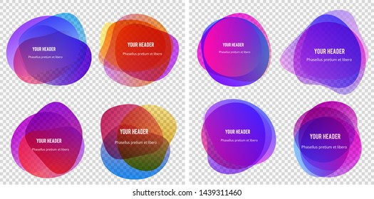 Abstract blur shapes red color gradient iridescent colors effect soft transition watercolor white background, texture for background presentation theme children products, vector illustration eps10