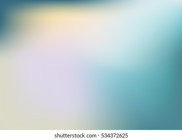 Abstract blur and smooth color pastel tone background. gradient blue green pink and yellow background.