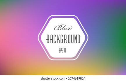Abstract blurred background. Colorful modern holographic soft lights. Multicolor rainbow neon glow. Blur trend iridescent wallpaper. Fluid purple and violet gradient . For banner,poster or web design