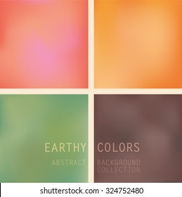 Abstract blurred background in earthy colors Collection of four different background vector images in warm natural earthy colors. These vectors contains mesh colors.