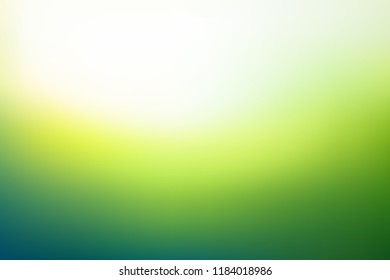 Abstract blurred background in green colors. Fresh grass under sunlight unfocused. Vector illustration
