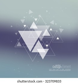 Abstract blurred background with hipster triangles.