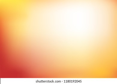 Abstract blurred background in red, orange and yellow tones. Autumn colors vector illustration