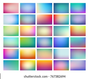 Abstract  blurred background set, colorful gradient meshes suitable for text, eps10 vector