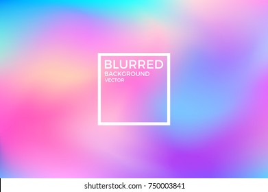 Abstract blurred background. Vivid color. Vector illustration