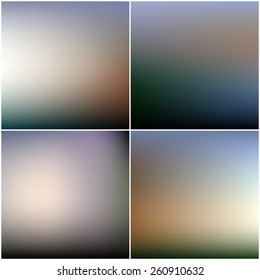 Abstract blurred backgrounds set.