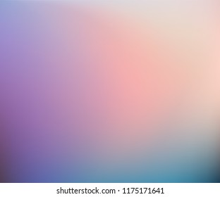 Abstract Blurred beige purple teal blue background. Soft gradient backdrop with place for text. Vector illustration for your graphic design, banner, poster
