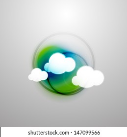 Abstract blurred colorful clouds