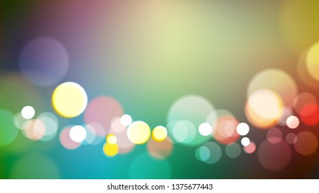 Abstract blurred colors background with bokeh light. Eps10 vector