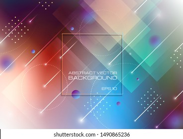 Abstract blurred colors background with geometric shapes. Vector Eps10