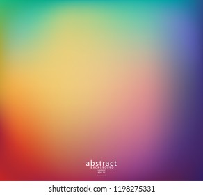 Abstract blurred gradient mesh background bright rainbow colors. Colorful smooth soft banner template. Creative vibrant vector illustration
