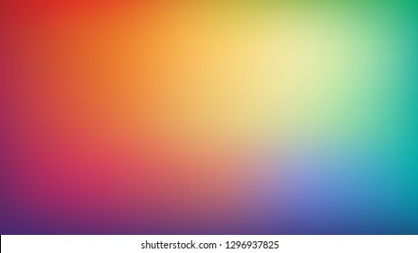 Abstract blurred gradient mesh background. Trendy bright rainbow colors. Modern colorful smooth banner template. Easy editable soft colored vector illustration