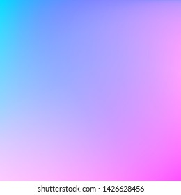 Abstract blurred gradient mesh background. Pastel blue and purple blend illustration. Colorful smooth banner background. Vector