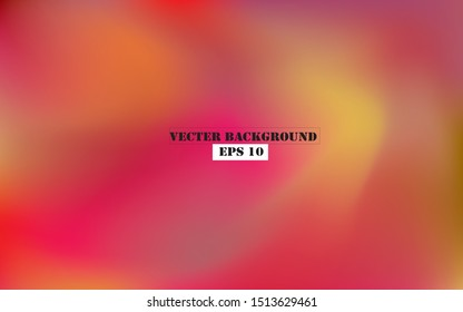 Abstract blurred gradient mesh background in bright rainbow colors. Colorful smooth banner template. Easy editable soft colored vector illustration in EPS10 without transparency.