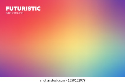 Abstract blurred gradient mesh background. Colorful wallpaper and smooth banner template. Editable soft colored vector illustration without transparency. Rainbow natural sky gamma.