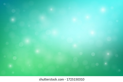 Abstract blurred gradient mesh background in soft colors. Colorful  template with stars. Easy editable light colored vector illustration. Abstract colourful bokeh background.