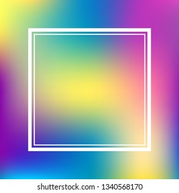 Abstract blurred gradient mesh smooth background with frame