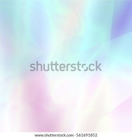 Abstract Blurred Holographic Background Light Colors Stock Vector