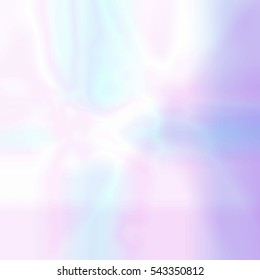 Abstract blurred holographic background in pastel light colors. Trendy wallpaper - hipster style. Vector illustration for modern style trends, for creative project design