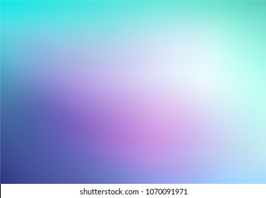 Abstract Blurred mint purple pink background. Soft light gradient backdrop with place for text. Vector illustration for your graphic design, banner, poster