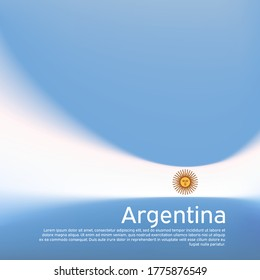 Abstract blurred pattern in argentina flag colors. Argentinean patriotic banner. Creative background for holiday card design. Cover business booklet. Vector illustration of the flag of argentina
