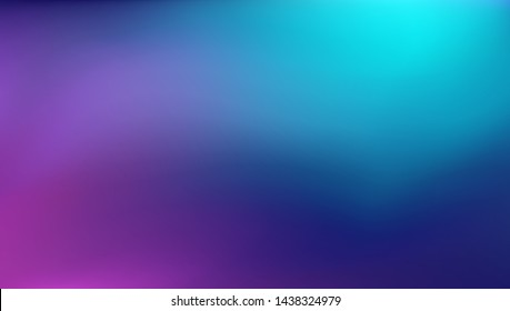 Abstract Blurred teal purple blue background. Soft light gradient backdrop with place for text. Vector illustration for your graphic design, banner, poster
