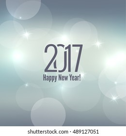 Abstract blurred vector background with sparkle stars. Happy New Year 2017 theme.