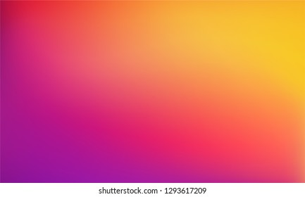 Abstract Blurred yellow orange magenta purple background. Soft gradient backdrop with place for text. Vector illustration for your graphic design, banner, poster
