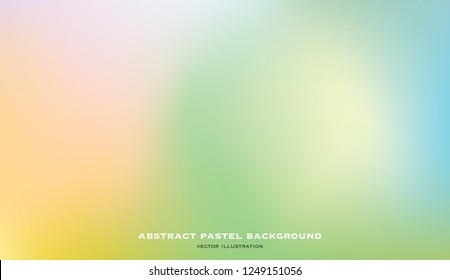 abstract blurry gradient mesh background in light pastel colors, colorful smooth template, editable and layered