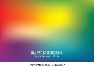 abstract blurry gradient mesh background in bright rainbow colors, colorful smooth template, editable and layered