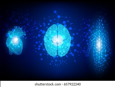 abstract body analysis technology background