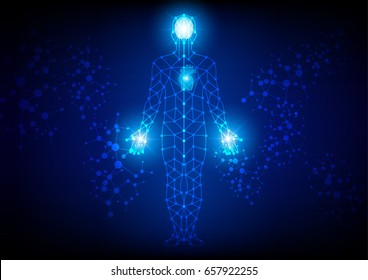 abstract body  technology background