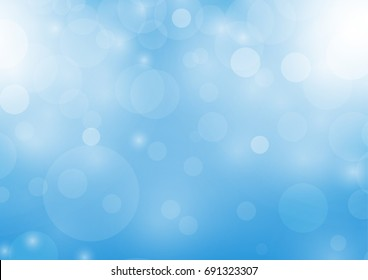 Abstract bokeh blue color background. vector illustration