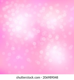 abstract bokeh and lens flare pattern on pink background(vector)