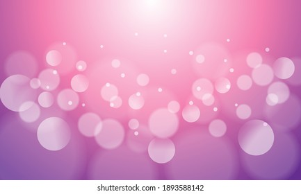 Abstract bokeh lights with soft pink light background illustration, backdrop.