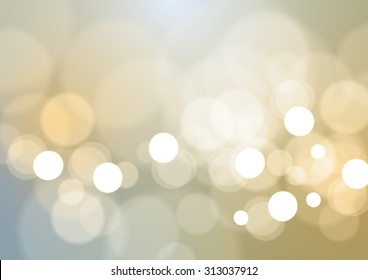 Abstract Bokeh Lights Vintage Background, Vector Illustration