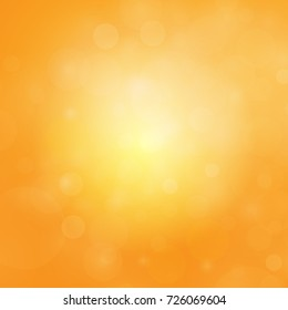 Abstract bokeh orange color background. vector illustration