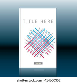 Abstract book cover design. Brochure, report or flyer design template
