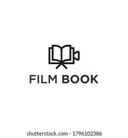 abstract book logo. movie icon