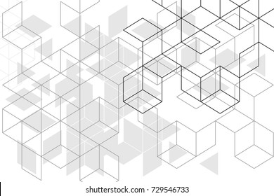 Abstract boxes background