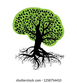 abstract, brain tree, health related logo icon