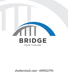 abstract bridge logo design template