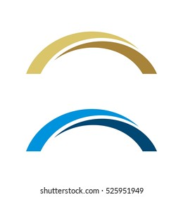 Abstract Bridge Vector Logo Template Illustration Design. Vector EPS 10.