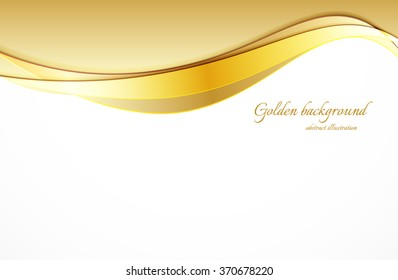 Abstract bright background in golden color vector illustration